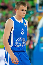 Ricardas Verbickas (team blue) of Lithuania during basketball match U18 All Star Game 2013 at Day 18 of Eurobasket 2013 on September 21, 2013 in SRC Stozice, Ljubljana, Slovenia. (Photo By Urban Urbanc / Sportida)