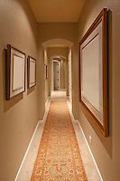 Empty hallway in house