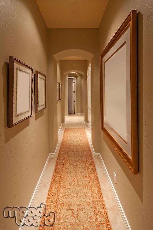 Empty hallway in house