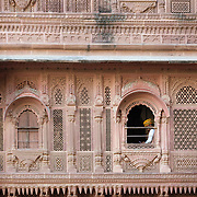 Interior facade of Mahrangarth Fort, Jodhpur