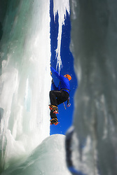 Ice climber in Norway