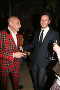 Wilf Art and Alasdhair Willis, Elle Decoration Design Awards, The Wallace Collection, Hertford House, Manchester Square, London. 5 November 2007. -DO NOT ARCHIVE-© Copyright Photograph by Dafydd Jones. 248 Clapham Rd. London SW9 0PZ. Tel 0207 820 0771. www.dafjones.com.