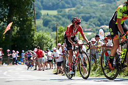 Lucinda Brand (NED) during La Course by Le Tour de France, a 121 km road race starting and finishing in Pau, France on July 19, 2019. Photo by Sean Robinson/velofocus.com