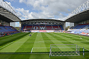 DW Stadium before the Sky Bet League 1 match between Wigan Athletic and Southend United at the DW Stadium, Wigan, England on 23 April 2016. Photo by John Marfleet.