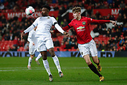 Leeds United Henri Kumwenda (9)  during the FA Youth Cup match between U18 Manchester United and U18 Leeds United at Old Trafford, Manchester, England on 5 February 2020.