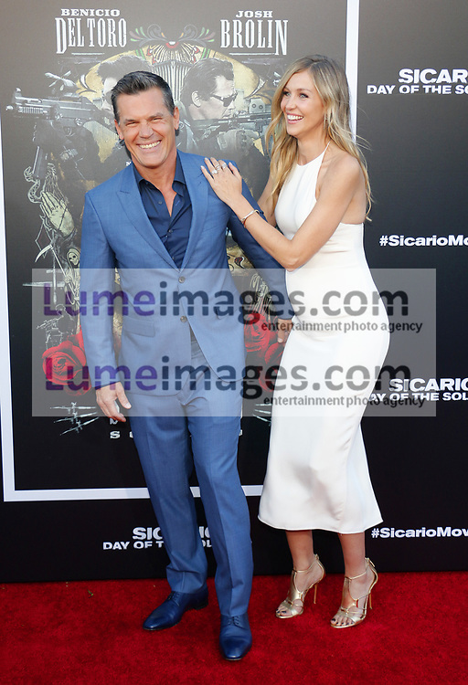 Kathryn Boyd and Josh Brolin at the Los Angeles premiere of 'Sicario: Day Of The Soldado' held at the Regency Village Theatre in Westwood, USA on June 26, 2018.