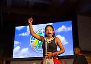 Young South African singers and musicians from Khayelitsha in Cape Town, South Africa, perform at the World&rsquo;s Children&rsquo;s Prize Ceremony in Mariefred, Sweden on April 26, 2017. Simbongile Sam in front.<br /> Photo: Sofia Marcetic/World's Children's Prize<br />