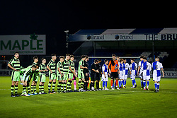 Teams line up - Rogan/JMP - 02/11/2017 - FOOTBALL - Memorial Stadium - Bristol, England - Bristol Rovers U18 v Forest Green Rovers U18 - FA Youth Cup 1st Round.