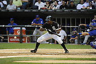 CHICAGO - JUNE 21:  Juan Pierre #1 of the Chicago White Sox bats against the Chicago Cubs on June 21, 2011 at U.S. Cellular Field in Chicago, Illinois.  The White Sox defeated the Cubs 3-2.  (Photo by Ron Vesely)  Subject:  Juan Pierre