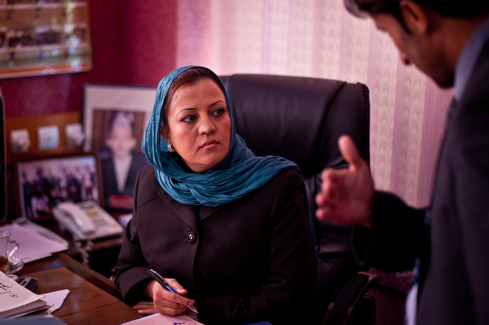 Maria Bashir, Afghanistan's first female Chief Provincial Prosecutor, in her office in Herat.