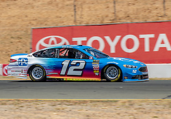 June 22, 2018 - Sonoma, CA, U.S. - SONOMA, CA - JUNE 22:  Ryan Blaney, driving the #(12) Ford for Team Penske exits turn 8a on Friday, June 22, 2018 at the Toyota/Save Mart 350 Practice day at Sonoma Raceway, Sonoma, CA (Photo by Douglas Stringer/Icon Sportswire) (Credit Image: © Douglas Stringer/Icon SMI via ZUMA Press)