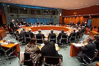 16 DEC 2009, BERLIN/GERMANY:<br /> Uebersicht, vor Beginn des Gespraechs der Bundeskanzlerin mit den Ministerpraesidenten der Bundeslaender, Internationaler Konferenzsaal, Bundeskanzleramt<br /> IMAGE: 20091216-01-029<br /> KEYWORDS: Konferenz, Sitzung, Sitzungssaal, Saal, Übersicht