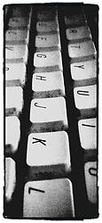 gritty monochrome keyboard closeup