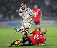 FOOTBALL - FRENCH CHAMPIONSHIP 2010/2011 - L1 - LILLE OSC v GIRONDINS BORDEAUX  - 16/04/2011 - PHOTO JEAN MARIE HERVIO / DPPI - FLORIAN MARANGE (GDB) / FLORENT BALMONT (LOSC)