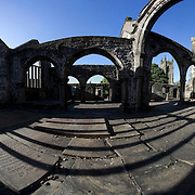The ruins of Thomas a Becket church, Heptonstall, Calderdale, West Yorkshire. The church was built between 1256 - 1260. After suffering storm damage in 1847, the church was finally  abandoned in 1854 following the construction of the present Church which shares the same churchyard.