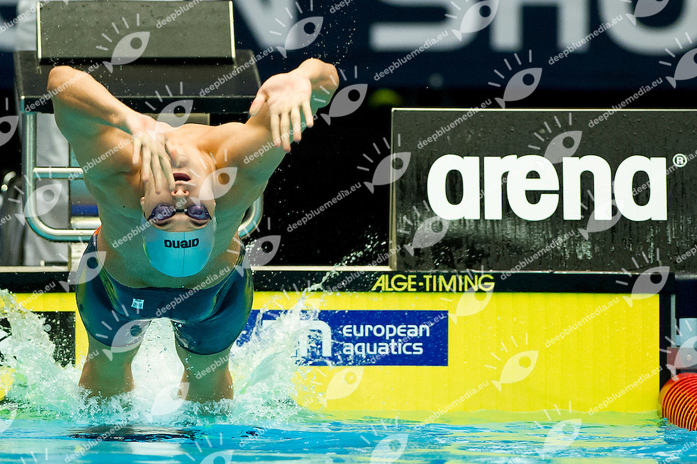 LAUGENI Fabio Italy ITA<br /> 100 Backstroke Men<br /> XVII European Short Course Swimming Championships<br /> Herning - DEN Denmark Dic. 12-15 2013<br /> Day03 - Dec. 14 2013 Heats<br /> Photo A.Masini/Deepbluemedia/Inside