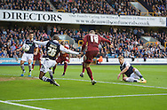 Jamie Proctor of Bradford City scores the equaliser during the Sky Bet League 1 Playoff Semi-final Leg Two at The Den, London<br /> Picture by Alan Stanford/Focus Images Ltd +44 7915 056117<br /> 20/05/2016