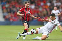 Football - 2019 / 2020 Premier League - AFC Bournemouth vs. Sheffield United<br /> <br /> Bournemouth's Adam Smith hurdles the challenge from John Egan of Sheffield United at the Vitality Stadium (Dean Court) Bournemouth <br /> <br /> COLORSPORT/SHAUN BOGGUST
