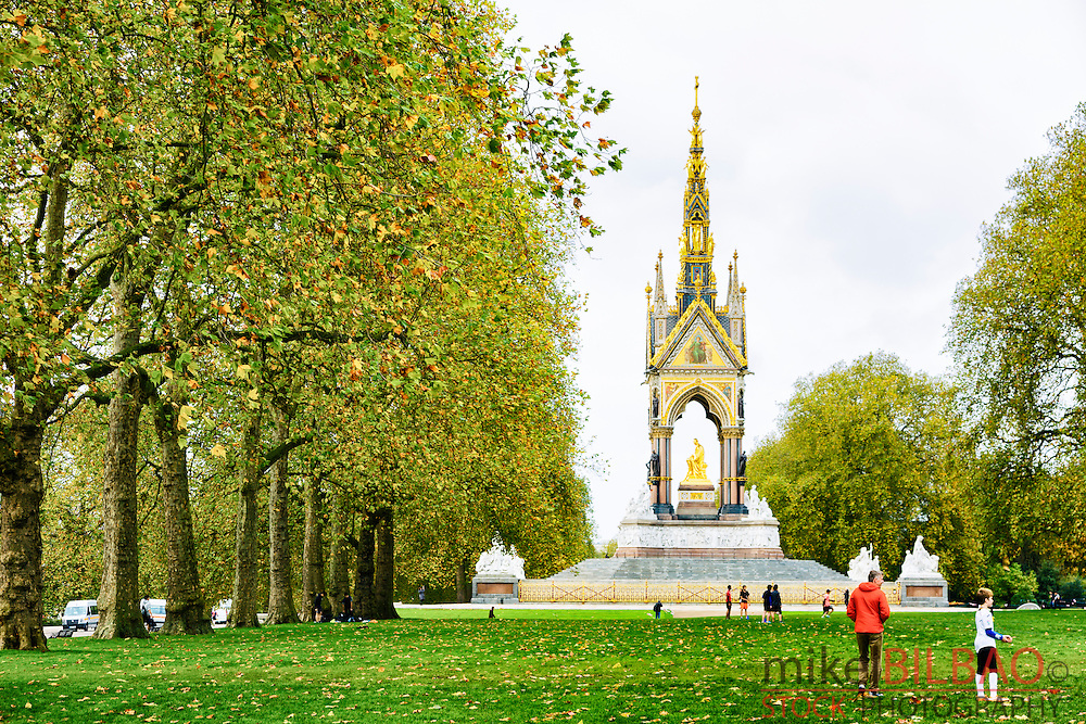 The Albert Memorial. Kensington Gardens. London, Great Britain, Europe.