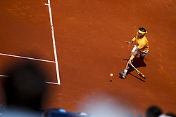 April 25, 2018 - Barcelona, Barcelona, Spain - 25th April 2018. Barcelona, Spain; Banc Sabadell Barcelona Open Tennis tournament; Rafael Nadal of Spain during the round 2 of Barcelona 66 ¼ Conde de Godo (Credit Image: © Eric Alonso via ZUMA Wire)