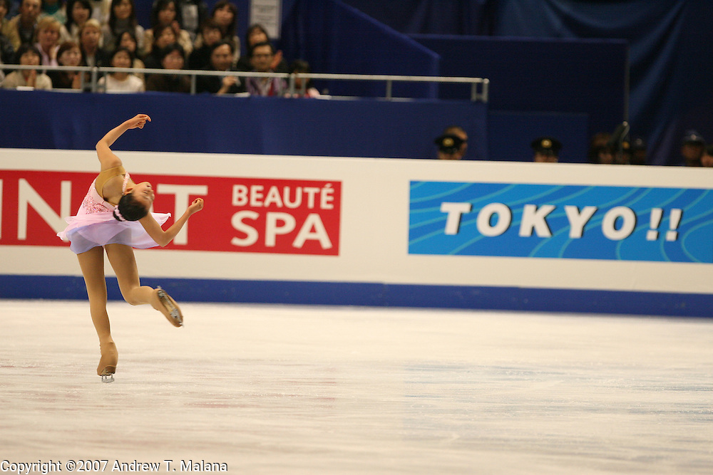 TOKYO - MARCH 23: Mao Asada of Japan performs during the Ladies Short program during the World Figure Skating Championships at the Tokyo Gymnasium on March 23, 2007. (Photo By Andrew T. Malana)