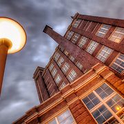 Old warehouses renovated into loft apartments in the Crossroads District, Kansas City, Missouri.