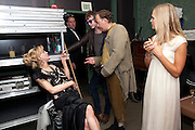 COURTNEY LOVE; MARK CORNELL; LADY ALEXANDRA GORDON-LENNOX, The Goodwood Ball. In aid of Gt. Ormond St. hospital. Goodwood House. 27 July 2011. <br /> <br />  , -DO NOT ARCHIVE-© Copyright Photograph by Dafydd Jones. 248 Clapham Rd. London SW9 0PZ. Tel 0207 820 0771. www.dafjones.com.