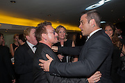 BONO; ROBBIE WILLIAMS, 2012 GQ Men of the Year Awards,  Royal Opera House. Covent Garden, London.  3 September 2012
