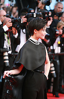 Li Yuchun at Sils Maria gala screening red carpet at the 67th Cannes Film Festival France. Friday 23rd May 2014 in Cannes Film Festival, France.
