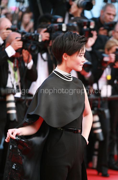 Li Yuchun at Sils Maria gala screening red carpet at the 67th Cannes Film Festival France. Friday 23rd May 2014 in Cannes Film Festival, France.