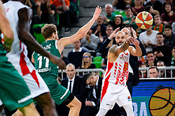 Filip Čović of KK Crvena Zvezda MTS during ABA basketball league round 9 match between teams KK Cedevita Olimpija and KK Crvena Zvezda MTS in Arena Stozice, 1. December, 2019, Ljubljana, Slovenia. Photo by Grega Valancic / Sportida