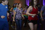 Freshman Ellenie Davila learns how to do the Bobcat Dance-a-thon group dance. Photo by Olivia Wallace