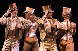 © Licensed to London News Pictures. 08/02/2013. London, England. Picture: John Partridge as Zach. The Musical A CHORUS LINE opens at the London Palladium starring John Partridge and Scarlett Strallen. Photo credit: Bettina Strenske/LNP