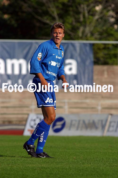 11.08.2002, Pori, Finland..Veikkausliiga 2002 / Finnish League 2002..FC Jazz Pori v Myllykosken Pallo-47.Sampsa Timoska - MyPa.©Juha Tamminen