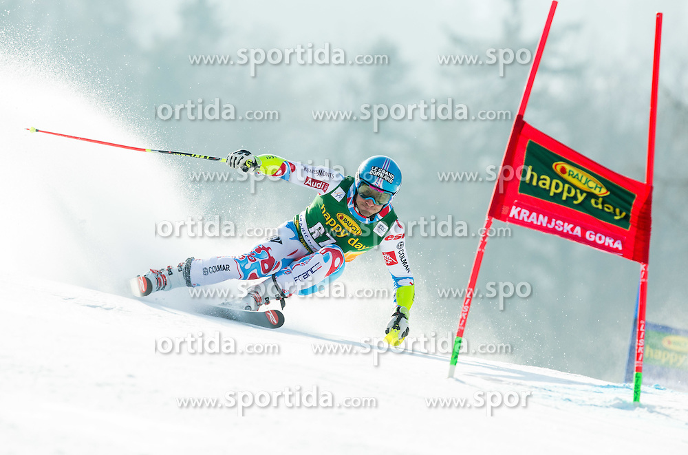 MERMILLOD BLONDIN Thomas of France competes in 1st Run during Men Giant Slalom race of FIS Alpine Ski World Cup 54th Vitranc Cup 2015, on March 14, 2015 in Kranjska Gora, Slovenia. Photo by Vid Ponikvar / Sportida