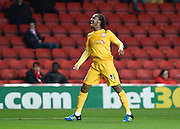Preston North End midfielder Daniel Johnson celebrates his goal to make it 3-0 to Preston during the Sky Bet Championship match between Charlton Athletic and Preston North End at The Valley, London, England on 20 October 2015. Photo by David Charbit.