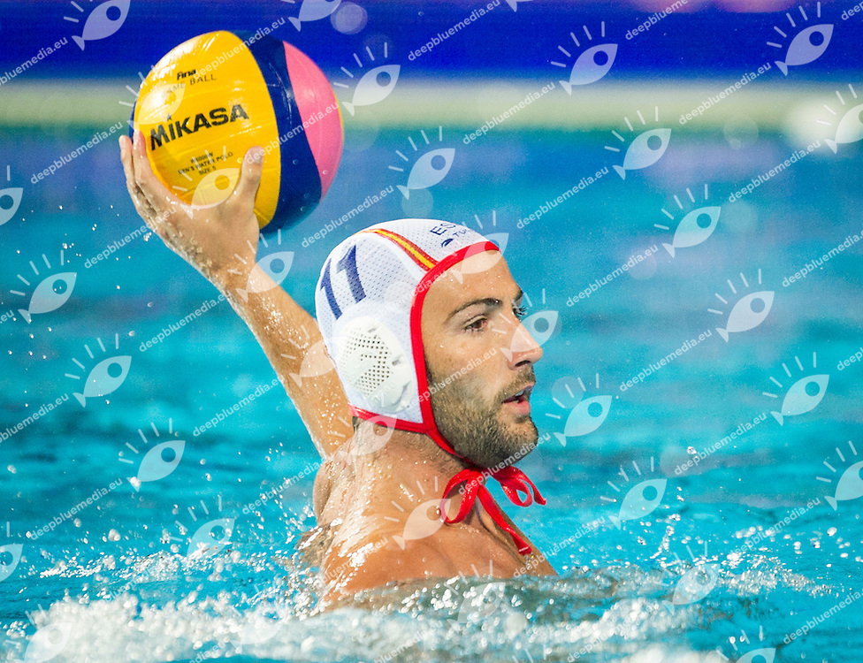 11 MALLARACH Guel Blai SPA<br /> Spain (White) Vs Hungary (Blue)<br /> LEN European Water Polo Championships 2014<br /> Alfred Hajos -Tamas Szechy Swimming Complex<br /> Margitsziget - Margaret Island<br /> Day01 - July 14 <br /> Photo Giorgio Scala/Inside/Deepbluemedia