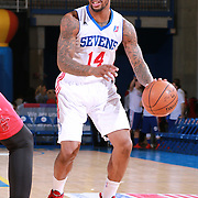 Delaware 87ers Guard SEAN KILPATRICK (14) dribbles the ball down court in the first half of a NBA D-league regular season basketball game between the Delaware 87ers and the Maine Red Claws Friday, Feb. 19, 2016 at The Bob Carpenter Sports Convocation Center in Newark, DEL.