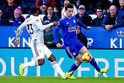 Ben Chilwell of Leicester City takes on Junior Hoilett of Cardiff City - Mandatory by-line: Robbie Stephenson/JMP - 29/12/2018 - FOOTBALL - King Power Stadium - Leicester, England - Leicester City v Cardiff City - Premier League