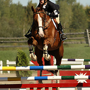 Meghan Baillie (CAN) and Stryker at the 2007 Bromont Fall Horse Trials held September 20 - 23 at the 1976 Olympic site in Bromont, Quebec, Canada.