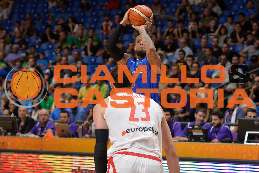 Daniel Hackett<br /> Nazionale Italiana Maschile Senior<br /> Eurobasket 2017 - Group Phase<br /> Georgia Italy Italia<br /> FIP 2017<br /> Tel Aviv, 06/09/2017<br /> Foto Ciamillo - Castoria/ Ivan Mancini