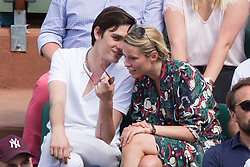 Alain-Fabien Delon and Keira Chaplin in stands during French Tennis Open at Roland-Garros arena on June 07, 2018 in Paris, France. Photo by Nasser Berzane/ABACAPRESS.COM
