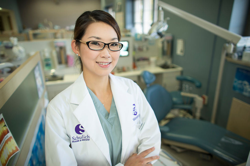Dr. Meena Na poses for a portrait in the Graduate Orthodontics Clinic at Western University in London Ontario, Tuesday,  October 7, 2014.<br /> Western University/ Geoff Robins