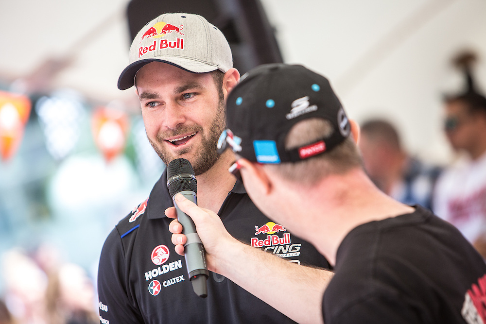 V8 Super car fan day. Shane van Gisbergen. 3 November 2016.  Photo:Gareth Cooke/Subzero Images
