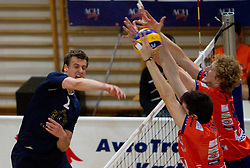 Jernej Potocnik of Kropa during volleyball match between ACH Volley Bled and UKO Kropa at final of Slovenian National Championships 2011, on April 27, 2011 in Arena SGTS Radovljica, Slovenia. ACH Volley defeated Kropa 3-0 and became Slovenian National Champion 2011. (Photo By Vid Ponikvar / Sportida.com)