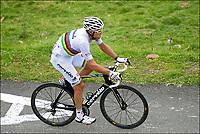 Sykkel<br /> Tour de France 2011<br /> 15.07.2011<br /> Foto: PhotoNews/Digitalsport<br /> NORWAY ONLY<br /> <br /> Stage 13 / Pau - Lourdes<br /> <br /> HUSHOVD Thor (TEAM GARMIN - CERVELO - NOR)