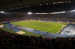 VIENNA, AUSTRIA - Thursday, October 6, 2016: A general View of the interior of the  Ernst-Happel-Stadion during the 2018 FIFA World Cup Qualifying Group D match between Wales and Austria . (Pic by Peter Powell/Propaganda)