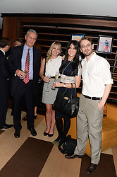 Left to right, JOE TERRENI, ALANNAH LAWSON, MAXINE RATTY and DUNCAN WEST at a party to celebrate Ben Goldsmith guest-editing the July/August 2013 edition of Spears Magazine held at 45 Park Lane, London on 19th June 2013.