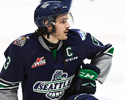 Mathew Barzal of the Seattle Thunderbirds in Game 2 of the 2017 MasterCard Memorial Cup against the Erie Otters on Saturday May 20, 2017 at the WFCU Centre in Windsor, ON. Photo by Aaron Bell/CHL Images