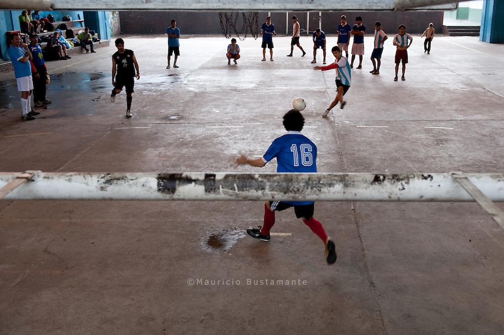Training die Argentinische Auswahl, Homeless World Cup,